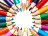colouring pencils in a circle quality childcare