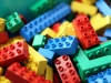 Nursery colourful lego pieces