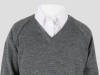 primary school uniform white shirt and grey jumper