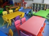 coloured primary school desks, chairs and storage cabinets