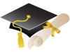scroll and graduation hat primary school Gifted and Talented children